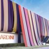 La sede di Gherardini ricoperta di stoffa per celebrare i 130 anni della maison