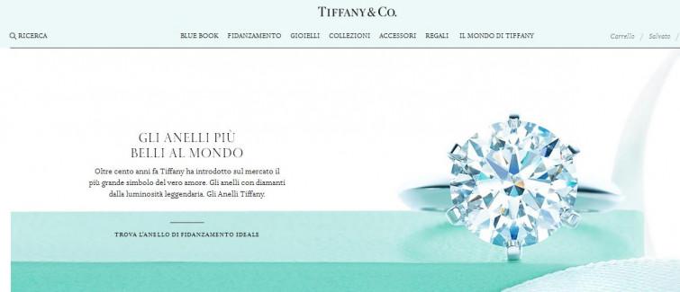 Tiffany co il nuovo sito che permette di vedere l for Tiffany sito americano