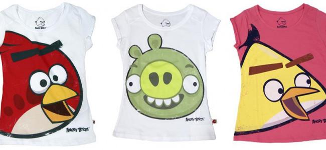 Le t-shirt Angry Birds di Bershka