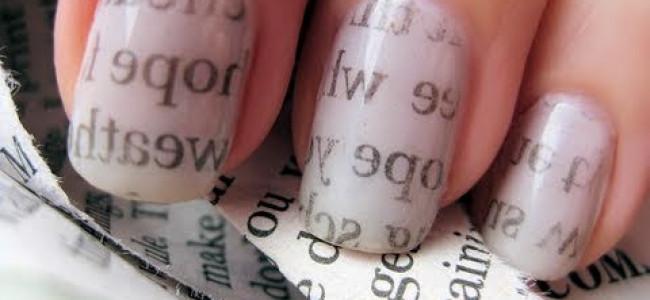 Tutorial unghie con carta di giornale