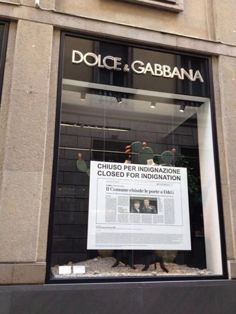 Dolce&Gabbana chiudono per indignazione
