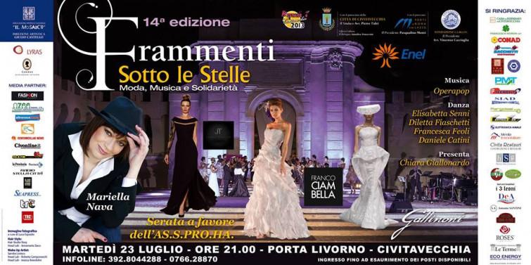 """Il 23 Luglio la 14esima edizione di """"Frammenti sotto le stelle"""" a Civitavecchia"""