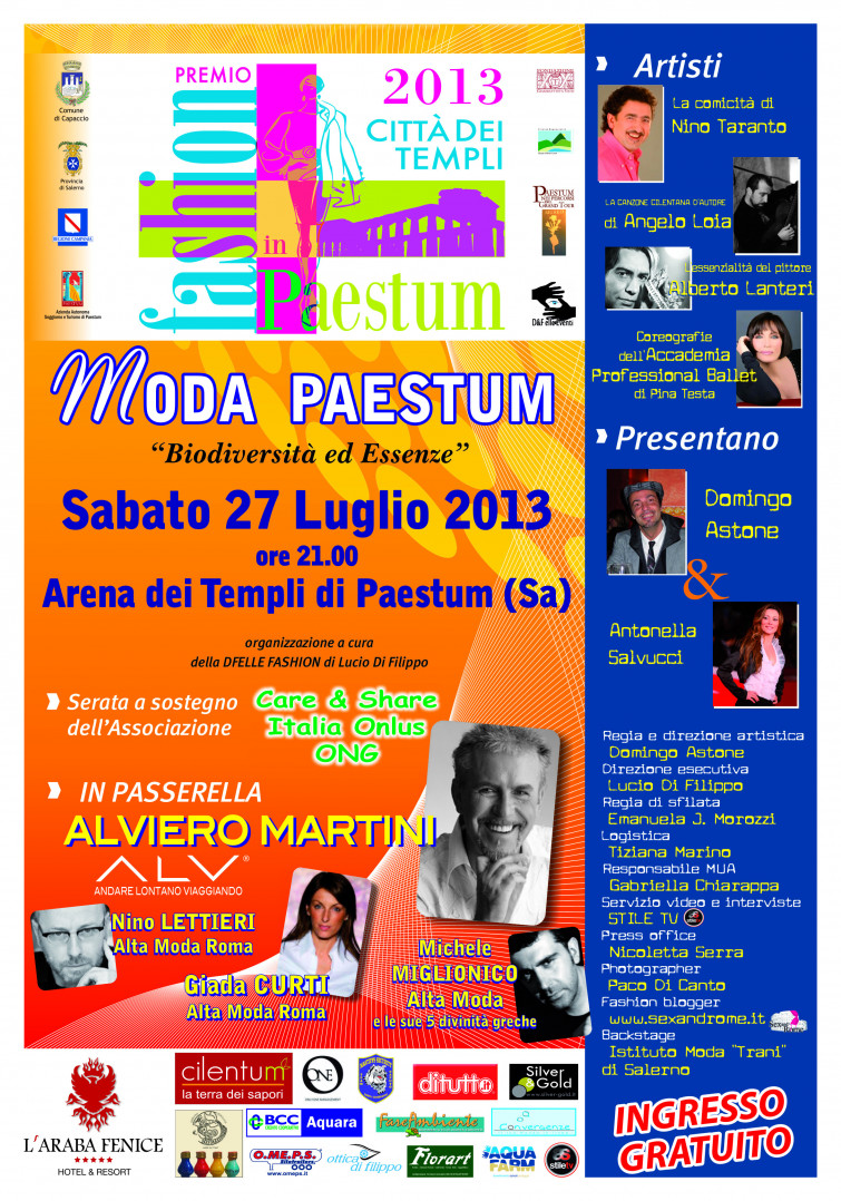 """Michele Miglionico al """"Premio Fashion in Paestum"""""""