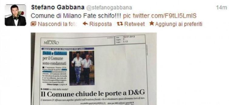 Lite tra Stefano Gabbana ed il Comune di Milano