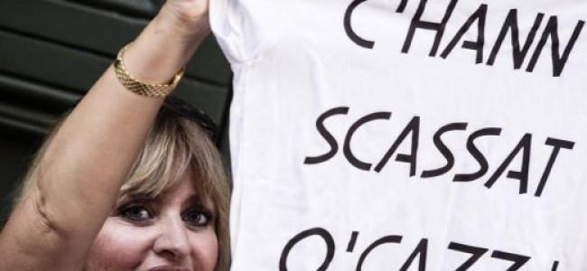 Le magliette di Alessandra Mussolini