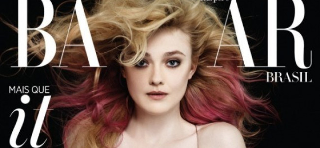 Karl Lagerfeld trasforma Dakota Fanning per il numero di settembre di Harper's Bazaar Brazil
