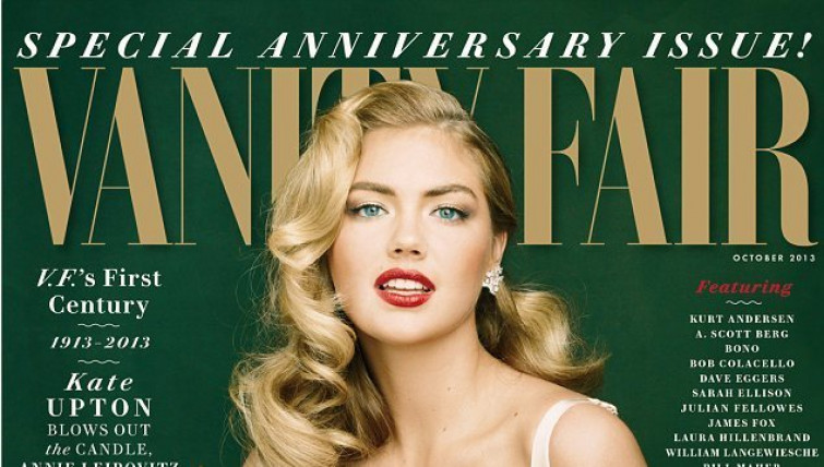 Vanity Fair festeggia 100 anni con Kate Upton in versione Marylin