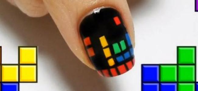 Nail Art: Tetris tutorial (VIDEO)