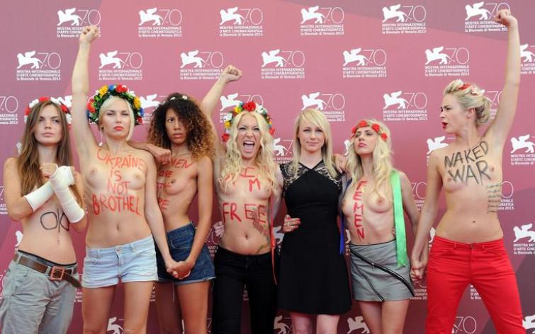 Le Femen sbarcano alla mostra del cinema di Venezia