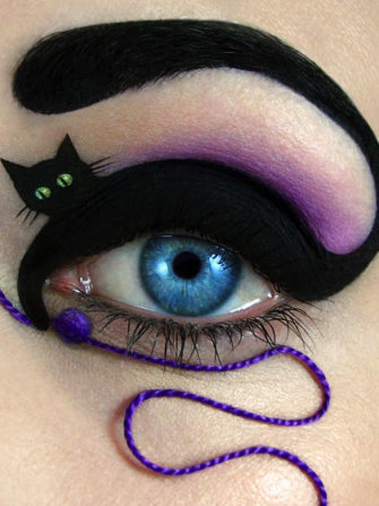 Occhi di gatto di nome e di fatto! Il makeup per Halloween
