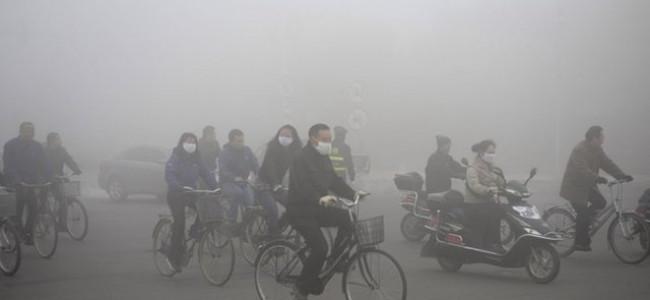 Cina, nella città di Harbin lo smog oscura il sole [FOTO]