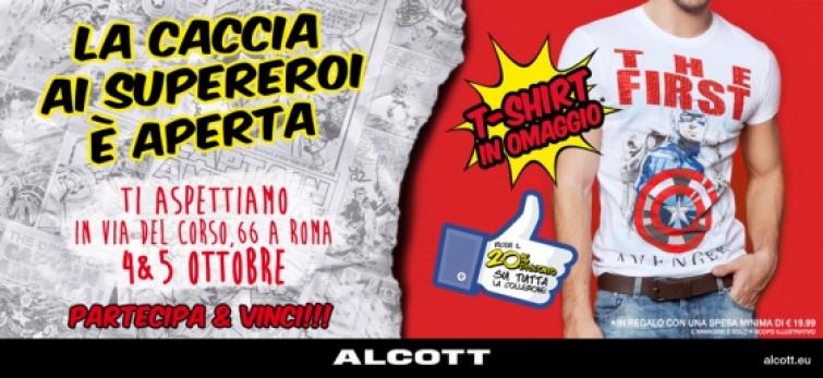"""I supereroi di Alcott e Alcott Los Angeles arrivano a Roma in """"Missione Sconto""""!"""
