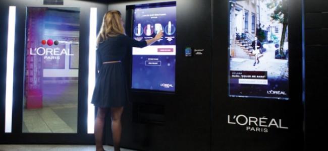 Il distributore automatico L'Oréal distribuisce… Consigli di make up!
