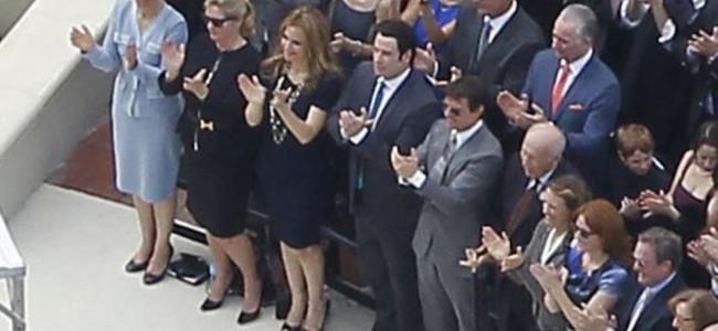 Tom Cruise e John Travolta all'inaugurazione della nuova cattedrale di Scientology [FOTO]