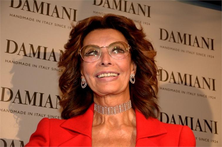 Sophia Loren madrina per riapertura Damiani a Roma
