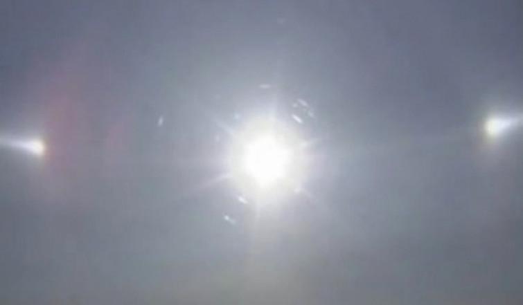 Cina, lo spettacolare fenomeno del Triplo Sole [VIDEO]