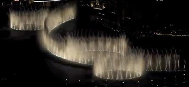 """Fantastico! La fontana di Dubai balla sulle note di """"Thriller"""" (VIDEO)"""