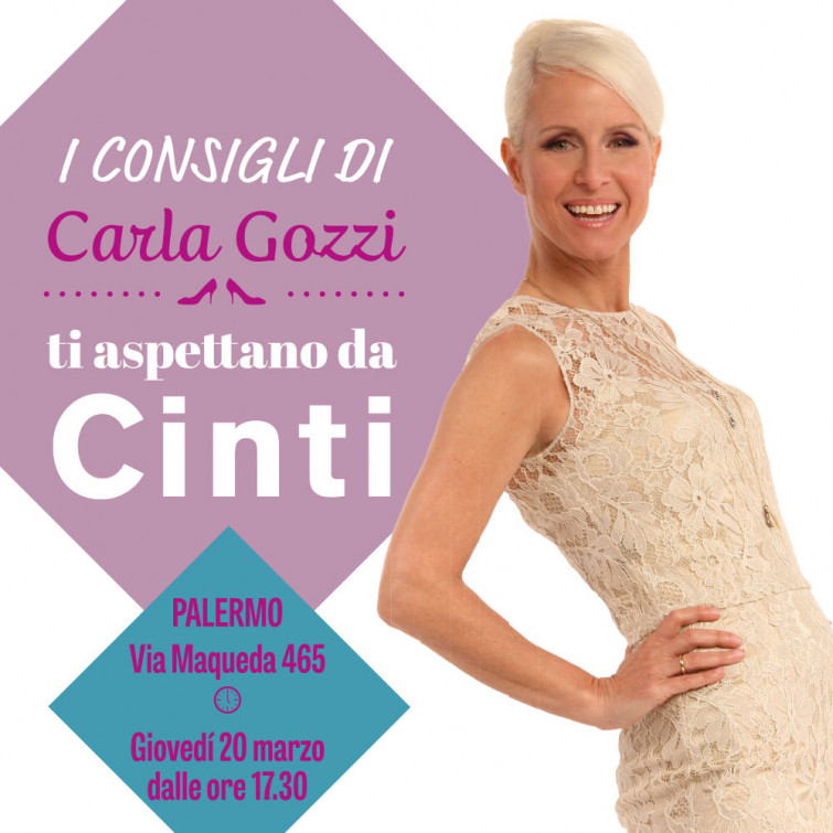 A Palermo la prima tappa del Cinti Tour SS14 con Carla Gozzi