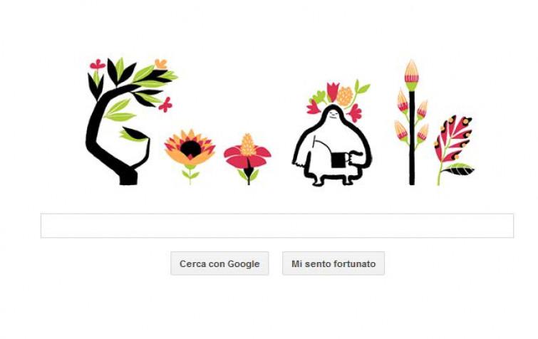 Google celebra l'arrivo della primavera con un simpaticissimo Doodle