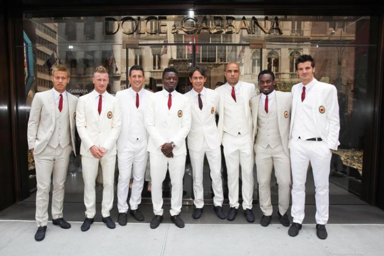 D&G firma le divise del Milan in USA