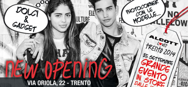 Nuovo store Alcott a Trento