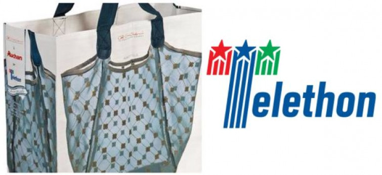 Le borse Auchan e Simply vestono Cruciani C
