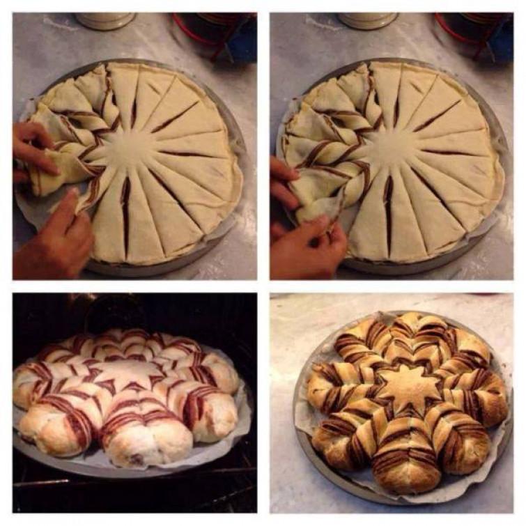 Pane A Forma Di Stella Di Natale.La Stella Di Natale Con Pane E Nutella Video