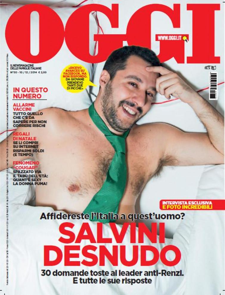 """Le foto di Salvini """"desnudo"""" all'asta su e-Bay per beneficenza"""