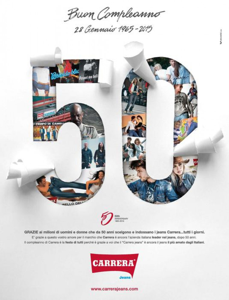 Carrera Jeans compie 50 anni