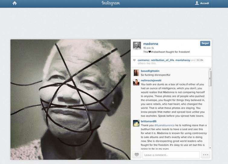 Mandela e Martin Luther King ribelli come Madonna