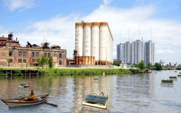 La boa solare che ripulisce i fiumi