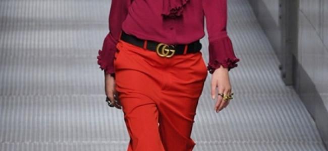 Milano Fashion Week 2015: look maschile ed elegante per la donna Gucci [GALLERY]