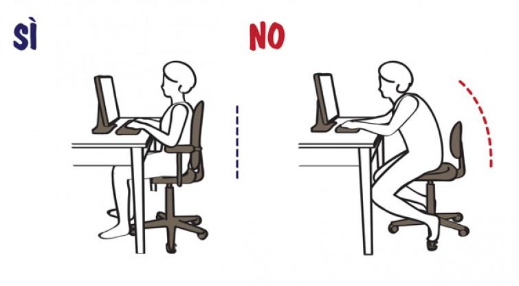 Dritte per assumere una postura corretta davanti al pc [VIDEO]