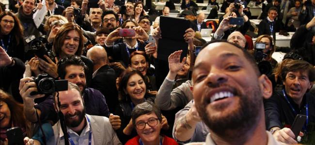 Will Smith in Conferenza Stampa a Sanremo: a tu per tu con la fotocamera fra selfie e risate [FOTO]
