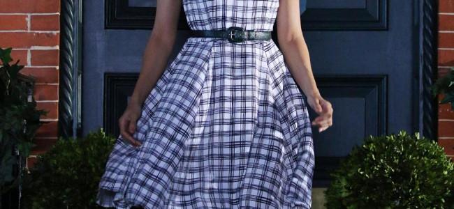 Eva Mendes in stile anni 50′: scatti rubati dal set della nuova campagna pubblicitaria
