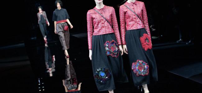 Milano Fashion Week 2015: la donna di Giorgio Armani è aggressiva e sicura di sè [GALLERY]