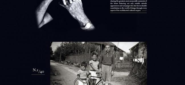 Armani celebra i 40 anni della Giorgio Armani pubblicando una sua foto da bambino
