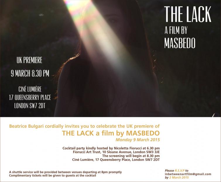 """A Londra per il meglio del cinema italiano: il Festival di conclude con la videoarte di """"The Lack"""""""