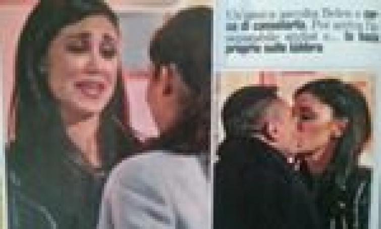 Belen e Stefano, aria di bufera in famiglia, lei bacia un altro