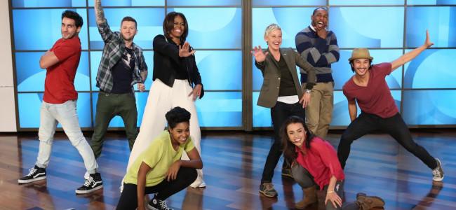 Standing ovation per il ballo di Michelle Obama al The Ellen Show