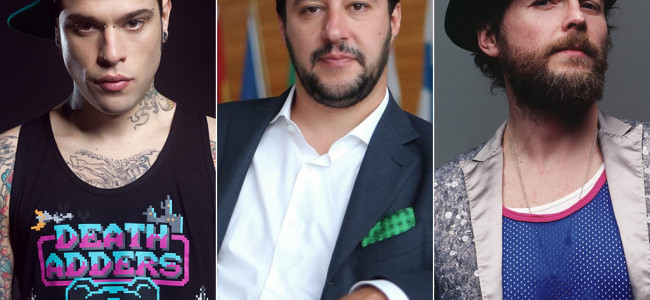 Rissa a tre su twitter: Fedez, Jovanotti e Salvini in polemica. God save the Italia !!!