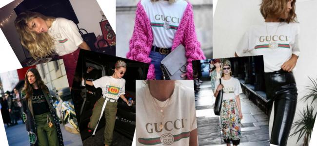 Gucci rilancia le t-shirt con logo