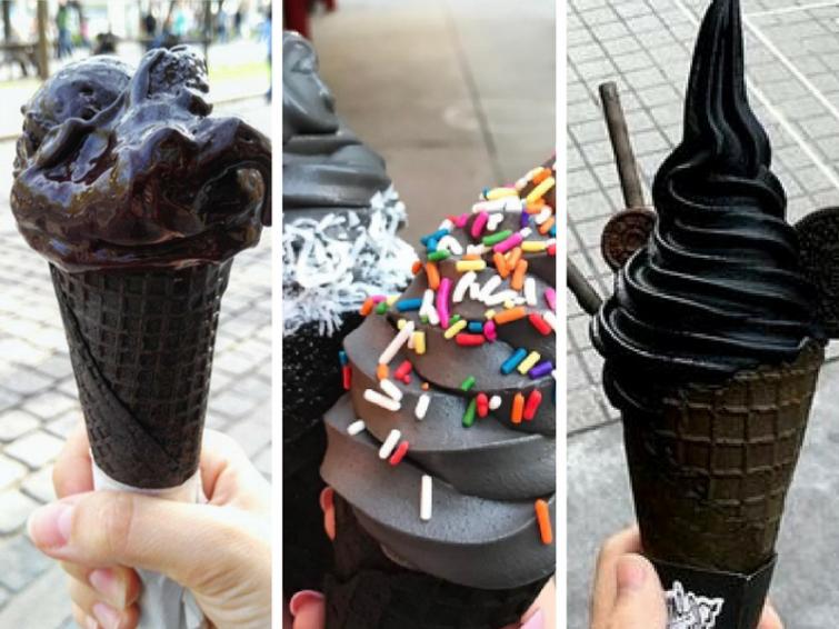 Il gelato nero: la proposta è americana ed è subito boom di scatti sui social