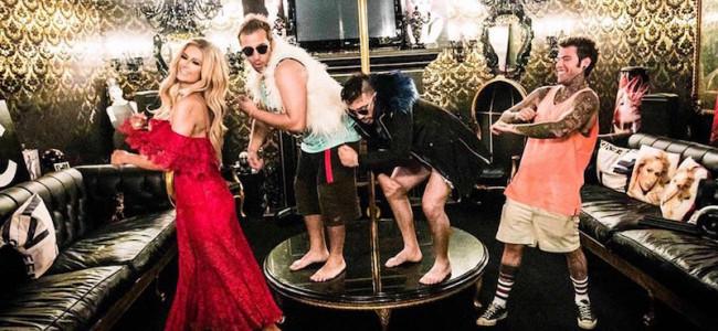 """Anche Paris Hilton partecipa al video di """"Senza pagare"""" realizzato da J-Ax & Fedez"""