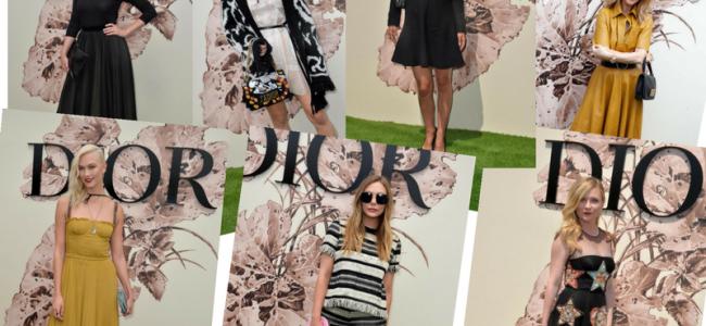 Gli outfit scelti dai vip alla sfilata Dior