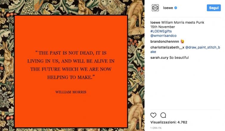 Moda: William Morris ispira la nuova collezione di Loewe