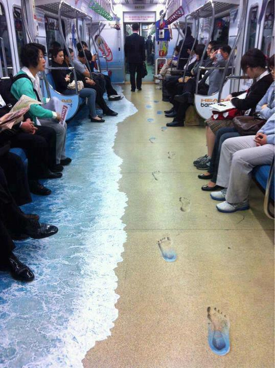 Per non soffrire il caldo sui mezzi pubblici!