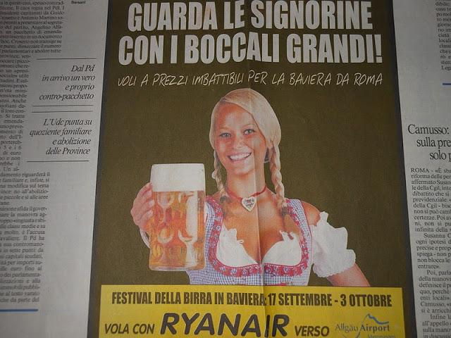Festival della birra, vola con Ryanair!