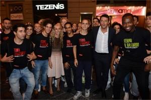 Matteo Renzi; Franca Sozzani; team yamamay