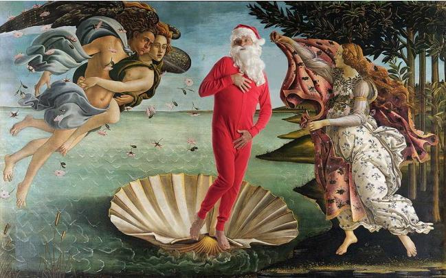 Babbo Natale protagonista dei quadri più famosi del mondo (FOTO)